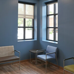 The Waiting Room Inside The Screening And Prevention Annex (SPA).